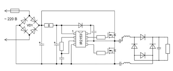Given isolation method is recommended for electric transducers running at frequencies greater than 500 kHz to make possible to use of low capacity blocking capacitors and inductors.