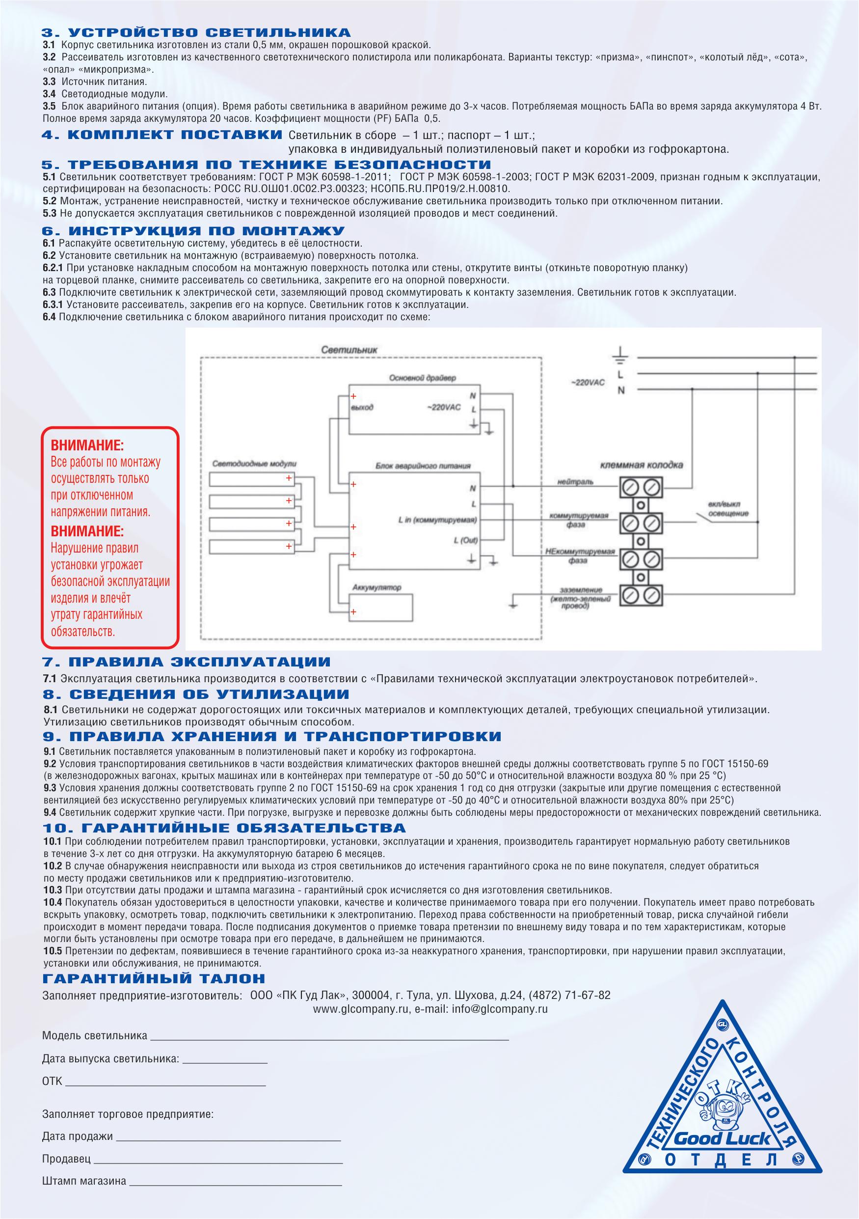 Светодиодные модули и отражатели