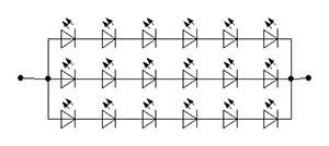 Схема соединения светодиодов GL-05-18-350