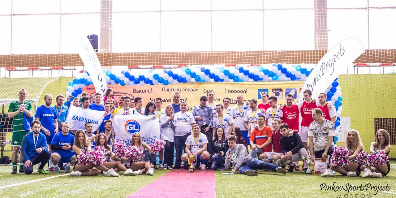 общая фотография футболистов на Кубке Электроники 2016