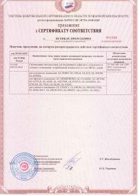 Сертификат соответствия №001926